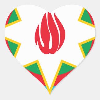 Wappen von Aserbaidschan - Азәрбајҹангерби Herz-Aufkleber