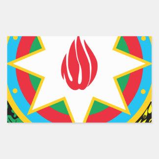 Wappen von Aserbaidschan - Азәрбајҹангерби Rechteckiger Aufkleber