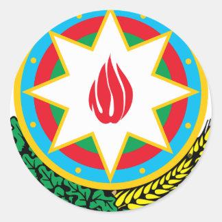 Wappen von Aserbaidschan - Азәрбајҹангерби Runder Aufkleber