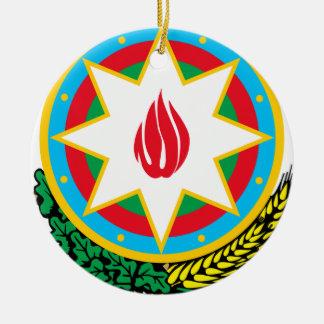 Wappen von Aserbaidschan - Азәрбајҹангерби Rundes Keramik Ornament
