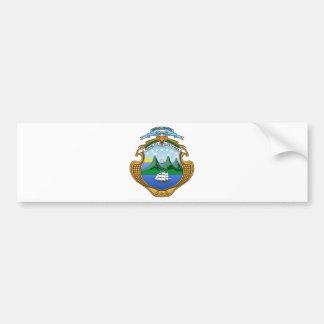 Wappen von Costa Rica - Escudode Costa Rica Autoaufkleber
