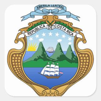Wappen von Costa Rica - Escudode Costa Rica Quadratischer Aufkleber