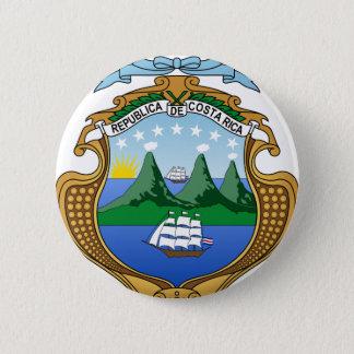 Wappen von Costa Rica - Escudode Costa Rica Runder Button 5,7 Cm