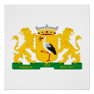Wappen von Den Haag, die Niederlande Poster
