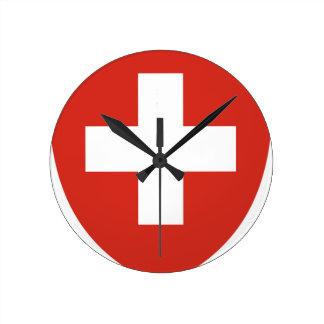 Wappen von die Schweiz - Wappen der Schweiz Runde Wanduhr
