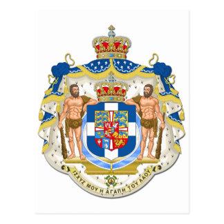 Wappen von Griechenland Postkarte