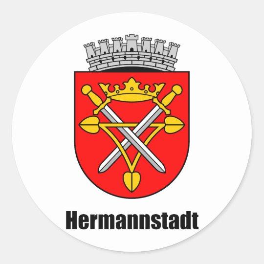 Wappen von Hermannstadt Runder Aufkleber