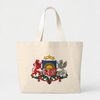 Wappen von Lettland - Latvijas ģerbonis Jumbo Stoffbeutel