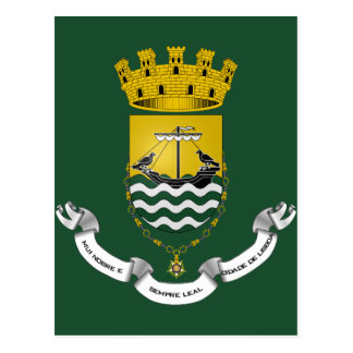 Wappen von Lissabon Lissabon Portugal Postkarte
