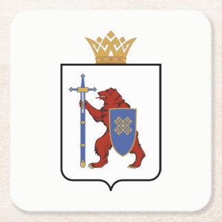 Wappen von Mari-EL Rechteckiger Pappuntersetzer