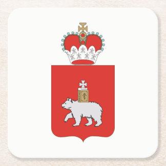 Wappen von Perm krai Rechteckiger Pappuntersetzer