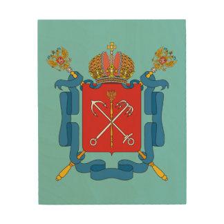 Wappen von St Petersburg Holzwanddeko