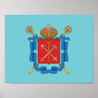Wappen von St Petersburg Poster