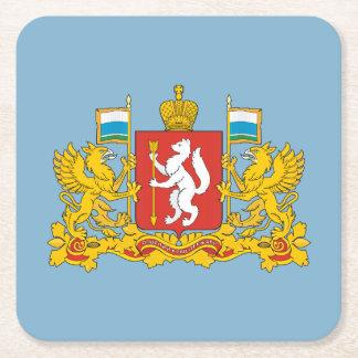 Wappen von Swerdlowsk oblast Rechteckiger Pappuntersetzer