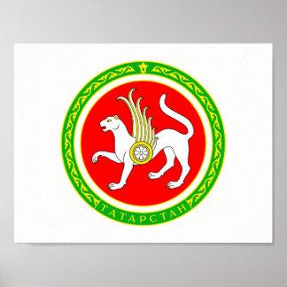 Wappen von Tatarstan Poster