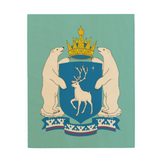 Wappen von Yamal-Nenetsia Holzleinwand