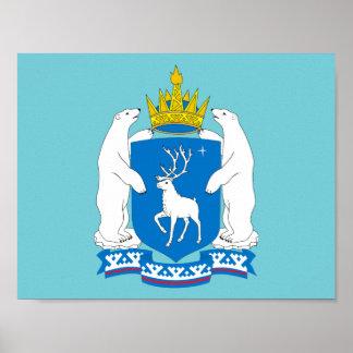 Wappen von Yamal-Nenetsia Poster