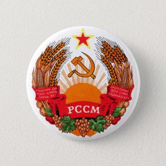 Wappen Wappenkunde-Symbol-Logo Moldau offizielles Runder Button 5,7 Cm