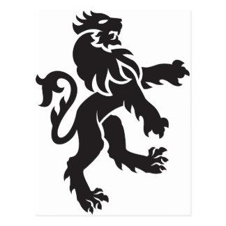 Wappenkunde-Löwe Postkarte