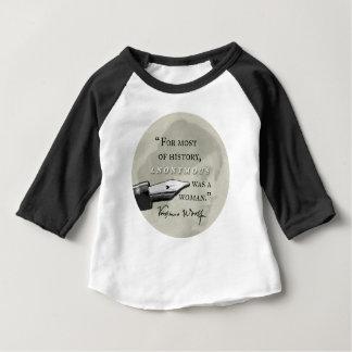 War ein Zitat Frau ~ Virginias Woolf circl anonym Baby T-shirt