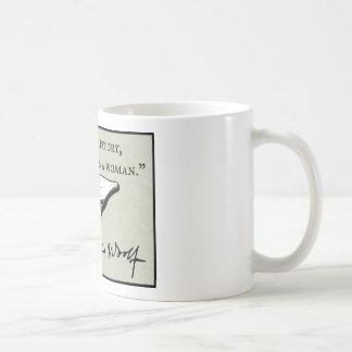 War eine Frau anonym Kaffeetasse