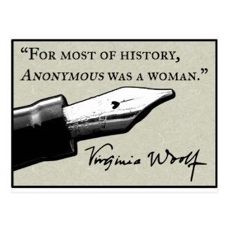 War eine Frau anonym Postkarte