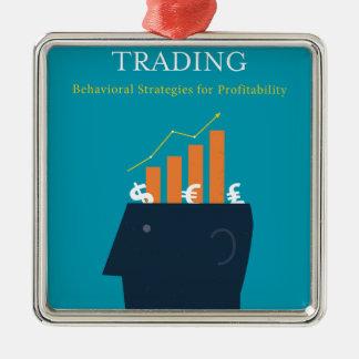Waren für Psychologie des erfolgreichen Handels Silbernes Ornament