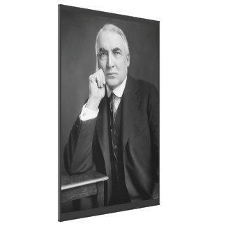 WAREN G. HARDING-Porträt durch Harris u. Ewing Galerie Gefaltete Leinwand