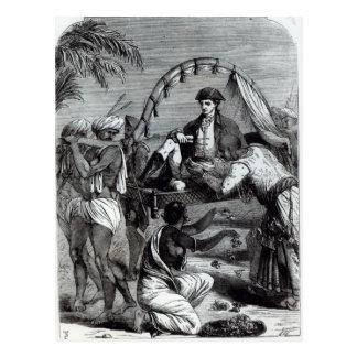 Waren Hastings in Indien im Jahre 1784 Postkarte