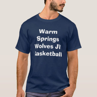 Warm- Springswölfe JV-Basketball T-Shirt