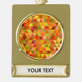 Warme Dreieckfliesen Banner-Ornament Gold
