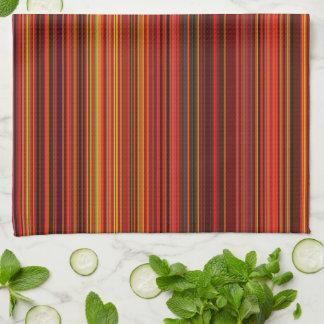 Warme Farbe - modische Art - Streifen-Muster Küchentuch