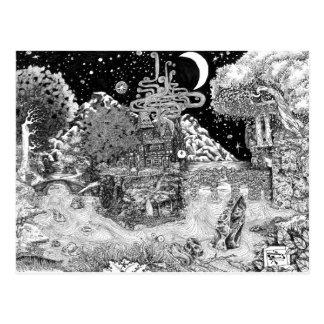 Wärmen Sie sich gegen die Nacht Postkarte