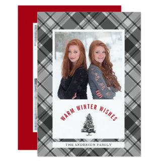 Wärmen Sie Wunsch-gezierter Baum-das karierte 3 Karte