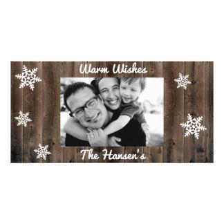 Wärmen Sie Wunsch-kundengerechtes Weihnachten Karte