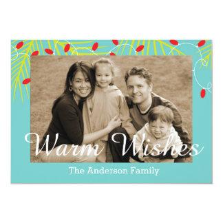 Wärmen Sie Wunsch-tropische Familien-Foto-Karten Karte