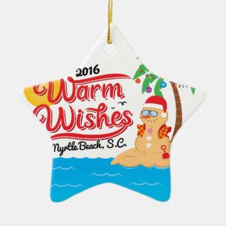 Wärmen Sie Wünsche von Myrtle Beach Keramik Ornament