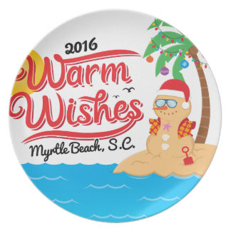 Wärmen Sie Wünsche von Myrtle Beach Melaminteller