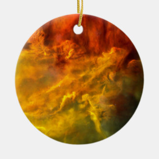 Warmer Lagune-Nebelfleck Keramik Ornament