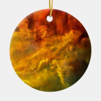 Warmer Lagune-Nebelfleck Rundes Keramik Ornament