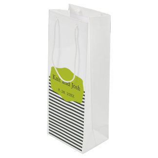 Warmes Holzkohlen-Grün-elegante unbedeutende Geschenktüte Für Weinflaschen