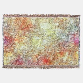 Warmes sonniges gelbes rosa orange abstraktes decke