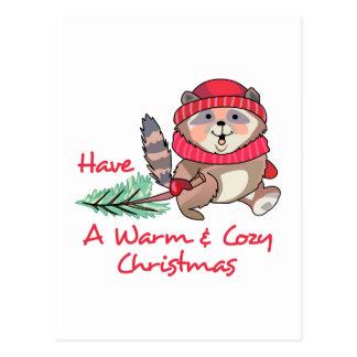 Warmes u. gemütliches Weihnachten Postkarte