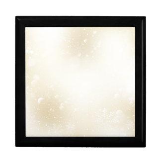 Warmes Winter-Goldmärchenland mit Schneeflocken Erinnerungskiste