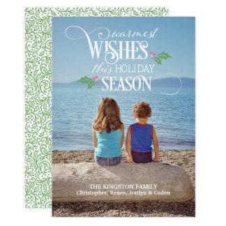 """""""Wärmste Wunsch-"""" Foto-Weihnachtskarte Karte"""