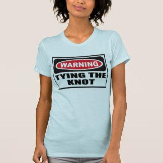 Warnen, den T - Shirt der KNOTEN Frauen BINDEN