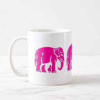 Warnen Sie 3 rosa Elefanten, die ⚠ thailändisches Kaffeetasse