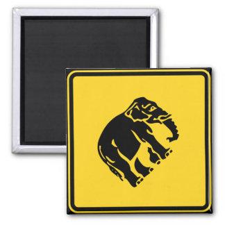 Warnen Sie die Elefanten, die ⚠ thailändisches Quadratischer Magnet