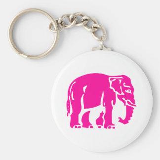 Warnen Sie rosa Elefant ⚠ thailändisches Schlüsselanhänger