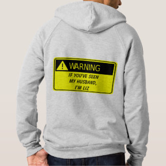 Warnen, wenn betrunkener oder verlorener gefunden hoodie